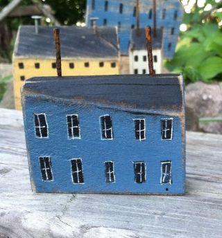 Repurposed Wood Saltbox Home Primitive Rustic Home Folk Art By A.  Gambrel Ooak B photo