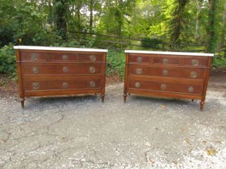 Fantastic Antique 1930s French Marble Top Chests,  Top Quality photo