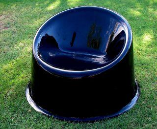 Modern Millenium Pop Art Geometric Verner Panton Panto Pop Chair Black photo