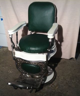 Antique Theo A.  Kochs Barber Chair,  Restored,  Great photo