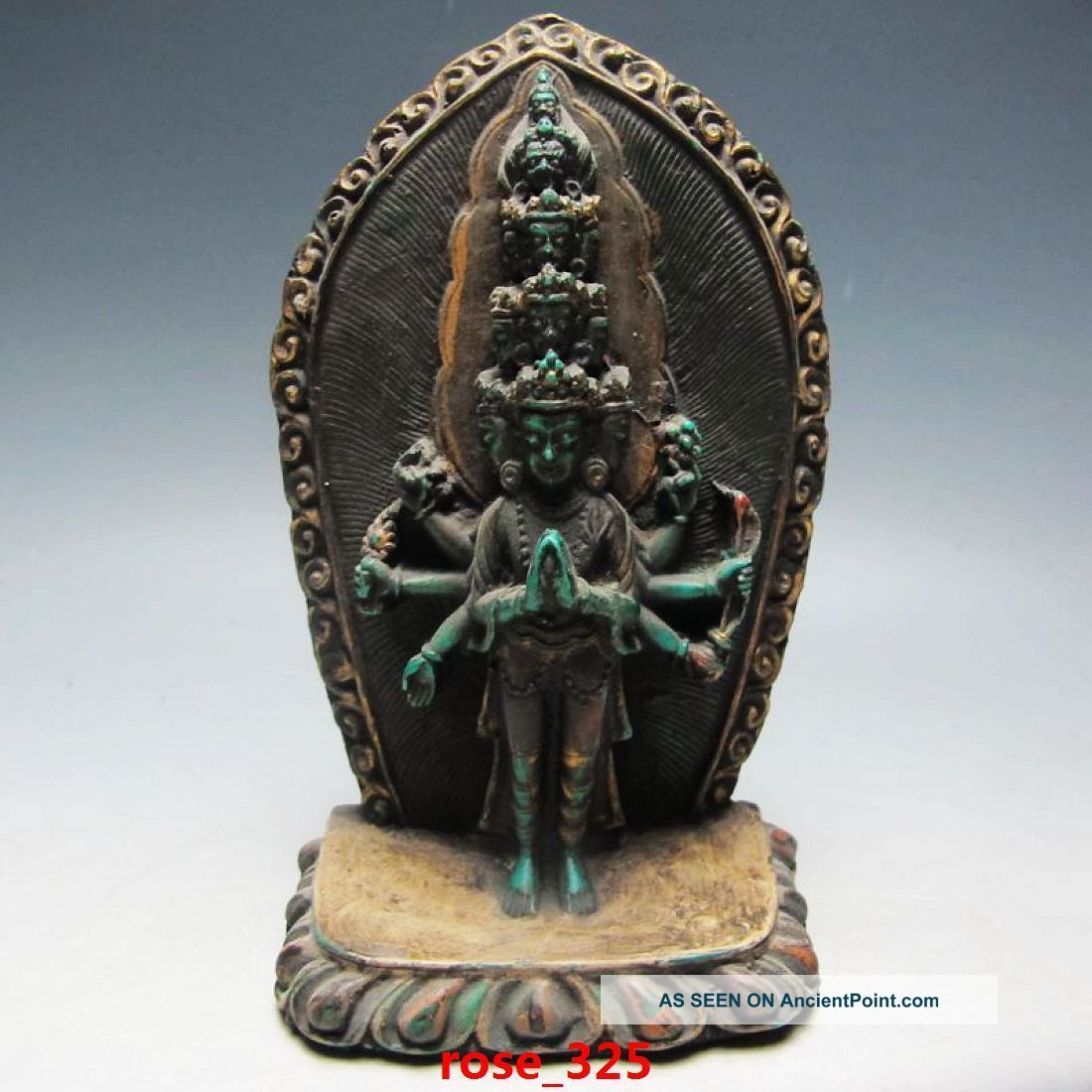 Old Tibet Tibetan Turquoise Buddha Statue Buddha photo
