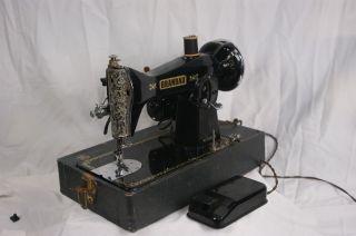 Vintage Brandau Portable Sewing Machine - Japan Complete photo