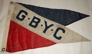 1900 ' S - 1920 ' S Green Bay Yacht Club Wool Flag Green Bay Wisconsin photo