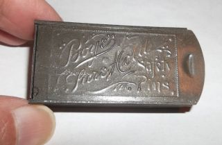 Antique Vtg 1904 Tin Embossed Boye Safety Pin Box photo