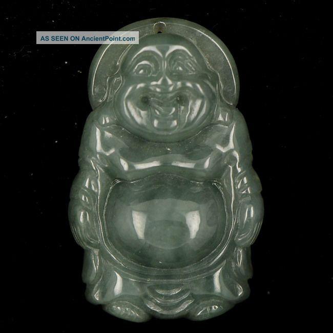 Green 100 Natural Grade A Jade Jadite Buddha Handmade Pendant Necklace(pa - 820) Buddha photo