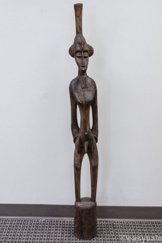 African Carved Wood Male Tribal Statue From West Africa 51