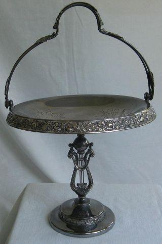 Elegant Vintage Reed & Barton Silverplate Cake Basket 15 & 1/2
