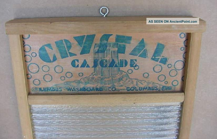 Vintage Glass Washboard Lingerie Crystal Cascade No.  2080 Columbus Ohio Washing Machines photo