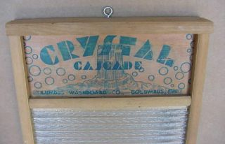 Vintage Glass Washboard Lingerie Crystal Cascade No.  2080 Columbus Ohio photo
