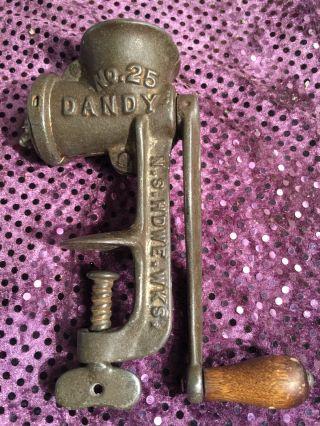Vintage Mt Joy Pa.  No 25 Dandy Salesman Sample Meat Grinder N.  S Hdwe Wks Usa photo