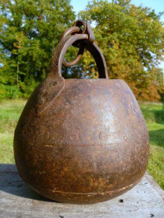1700 ' S Antique Iron Pot Cooking Colonial Trade.  Kitchen Kettle Cauldron Bucket photo