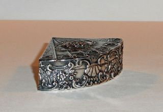 Antique German Silver Snuff Box; C.  1870 photo