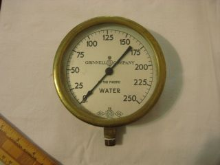Large Brass Gauge Great Wall Decoration Grinell Of The Pacific Water Gauge 4.  75