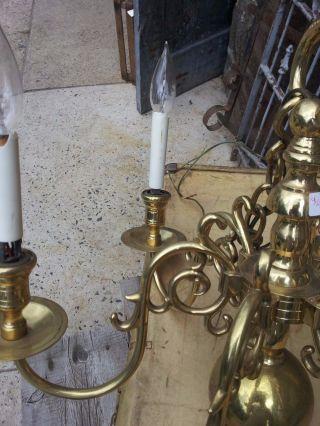 Brass Finish Chandelier photo