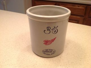 Red Wing Stoneware Crock Mini 35 Gallon Commemorative 2000 Numbered 167/200 photo