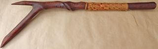 Solomon Islands Souvenir War Club With Naturally - Formed ' Wiggly Spiral Groove ' photo