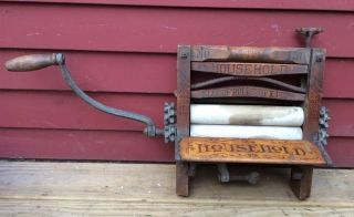 Antique Vintage American Wringer Co Household Clothes Laundry Wash Patented 1880 photo