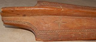 Ornate Niuean Katoua Nuie Island Antique Wooden War Club With Signs Of Much Use photo