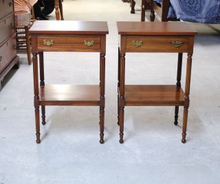 Biggs Of Richmond Virginia Mahogany Night Stands / End Tables photo