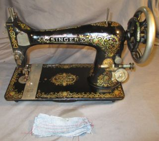 Serviced Antique 1907 Singer 27 Tiffany Treadle Sewing Machine Work 100 C - Video photo