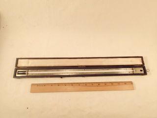 Antique J.  Hicks,  London Cased Precision Thermometer For Scientific Use.  1800 ' S photo
