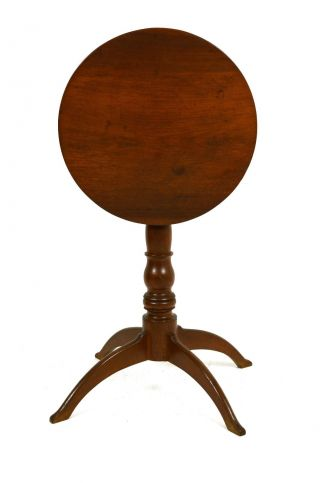 Antique American Walnut Antique Tilt Top Candlestand,  Probably Virginia,  Ca 1820 photo