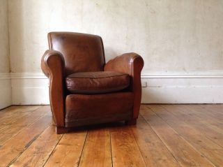 A Lovely French Leather Club Chair photo