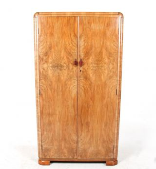 Art Deco Wardrobe Gents Wardrobe French Fine Quality Compactum Millinery Cupboar photo