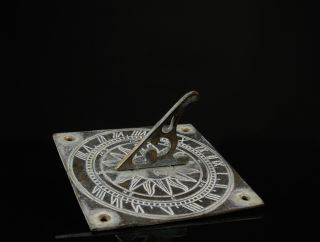 A Vintage Brass Sundial - Small Size. photo
