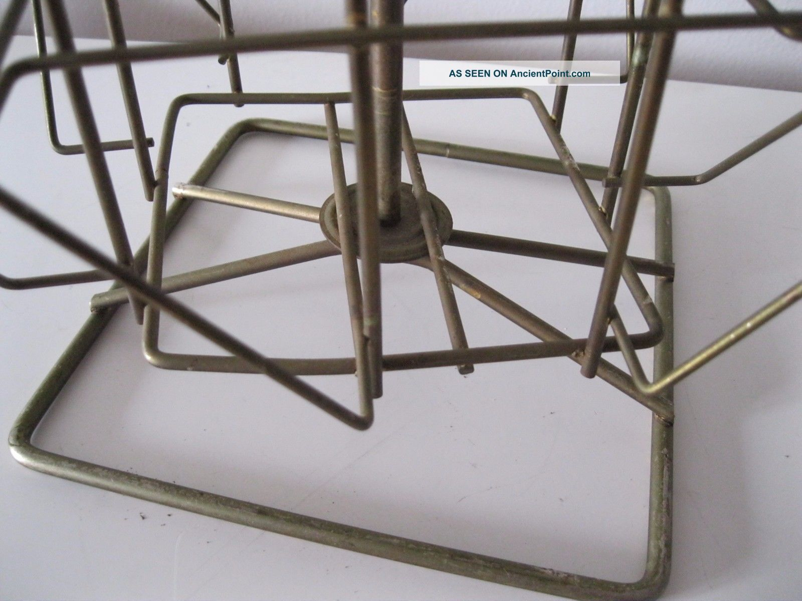 Vintage Rotating Store Counter Top Wire Postcard Rack/ Display - 20 ...