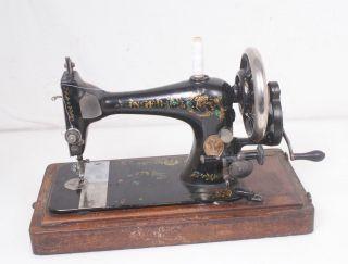 Antique 1892 Singer Vs 28k Hand Crank Sewing Machine photo