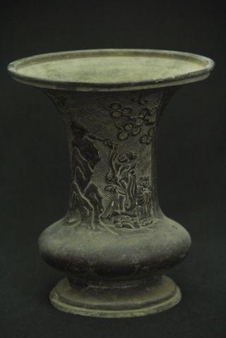 Japanese Antique Bronze Buddhist Temple Vase photo