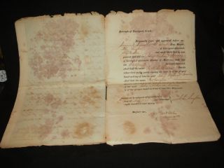 1832 Ships Freedom From Plague Declaration photo