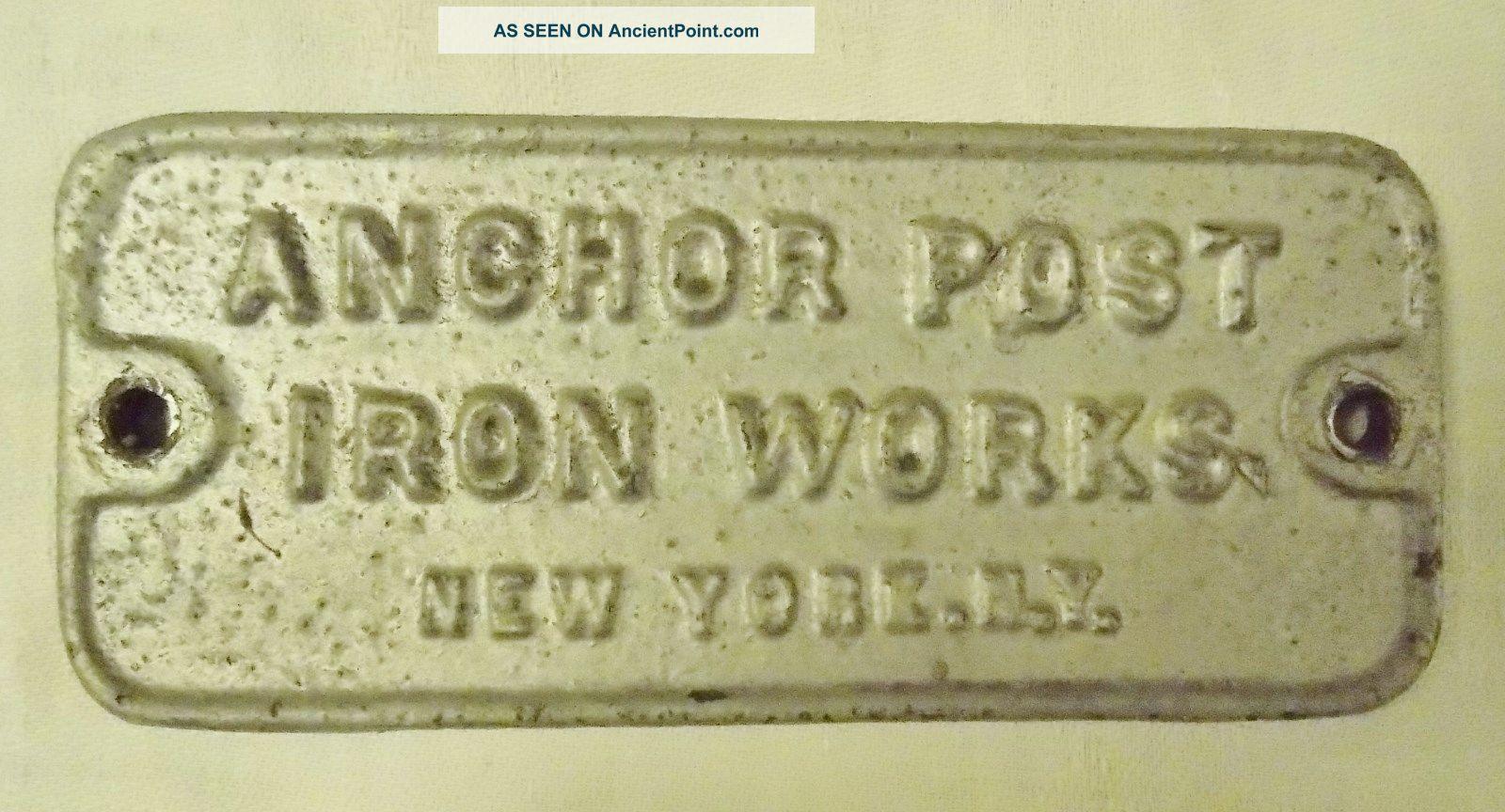 Antique Cast Iron Post Sign