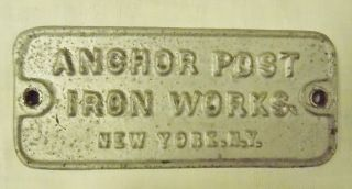 Antique Cast Iron Post Sign