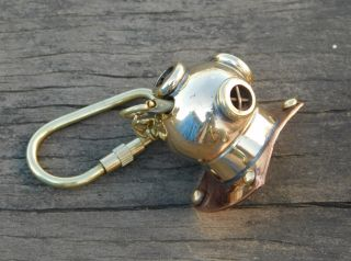 Divers Helmet Keychain Maritime Nautical Keyring Gift Diving Helmet Nautical photo