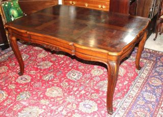 French Antique Louis Xv Bressan Walnut Dining Table. photo