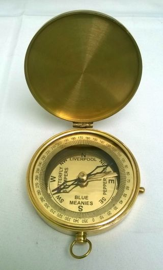 Maritime Antique Nautical Brass Polish Finish Eiffel Tower France Compass photo