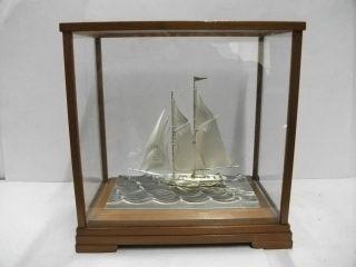 The Sailboat Of Silver985.  120g/ 4.  26oz.  2masts.  Takehiko ' S Work. photo