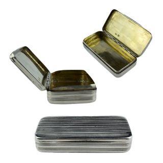 Georgian Sterling Silver Snuff / Trinket Box C.  1800 - London photo