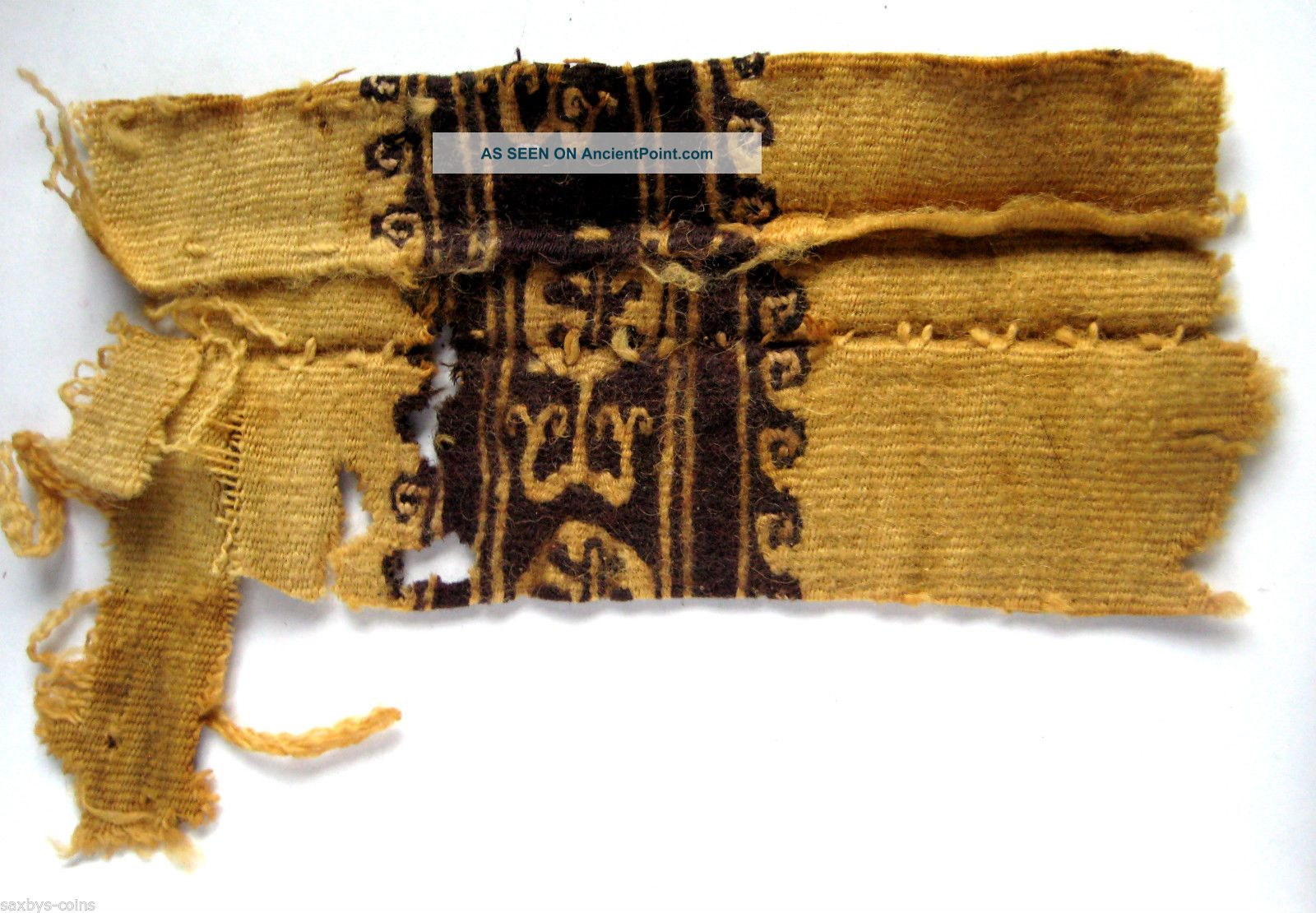 Circa.  1100 A.  D English Early Medieval Period Garment Section Of Heraldic Design Tapestries photo