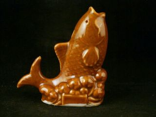 Antique Chinese Brown Glaze Porcelain Carp Little Drop Of Pot photo