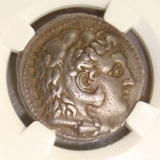 323 - 317 Bc Philip Iii Ancient Greek Silver Tetradrachm Ngc Choice Vf 5/5 4/5 photo