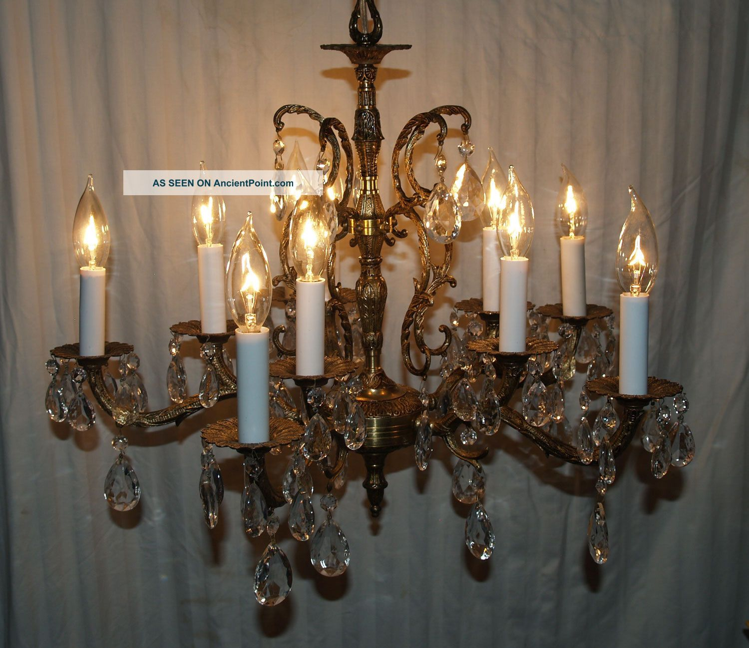 Brass And Crystal Chandelier Made In Spain Designs - Brass And Crystal Chandelier Made In Spain - Chandelier Designs