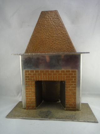 Architectural Model / Miniature Fireplace Mantle All Metal Handmade photo