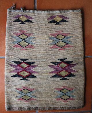 Old Large Nez Perce Indian Twined Cornhusk Bag 16