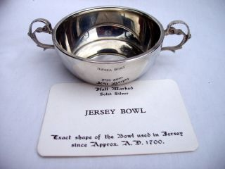 Hallmarked Sterling Silver Jersey Bowl.  66g.  Birmingham 1966.  K.  T.  K. photo