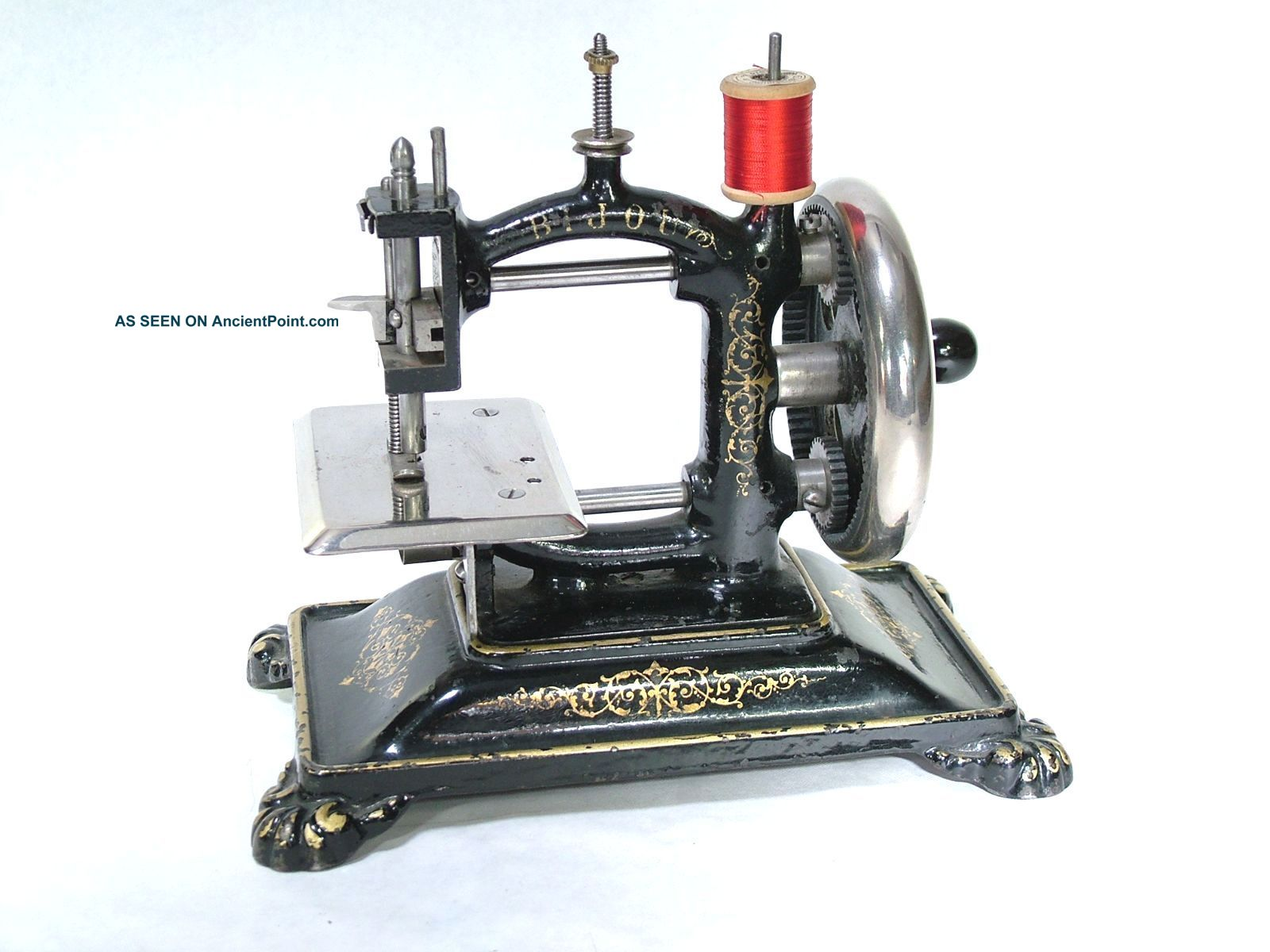 Very Rare Toy Sewing Machine W.  A.  Bennett 1880 ' S Sewing Machines photo