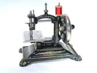 Very Rare Toy Sewing Machine W.  A.  Bennett 1880 ' S photo