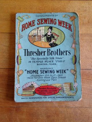 Antique Advertising Sewing Needle Case Thresher Brothers C1923 photo